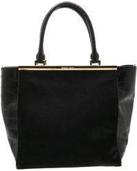 1dbb876e29c8 MICHAEL Michael Kors - Black Calf Hair And Croc Embossed Leather Large Lana  Tote - Lyst