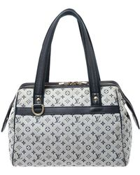 Louis Vuitton Navy Blue Monogram Mini Lin Josephine Pm Bag