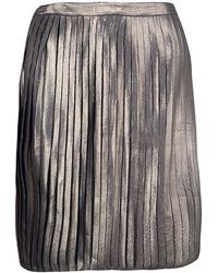 Tory Burch - Metallic Pleated Audra Skirt L - Lyst