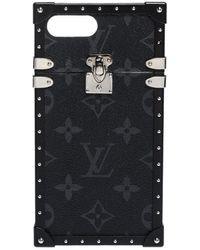 Louis Vuitton Monogram Eclipse Canvas Eye Trunk Iphone 7 Plus Case - Grey