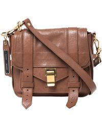 Proenza Schouler Brown Leather Ps1 Mini Shoulder Bag