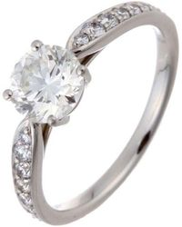 Tiffany & Co. Platinum 950 Diamond Harmony Ring Size 50 - Metallic