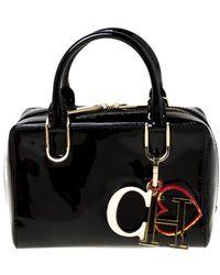 Carolina Herrera Black Patent Leather Handbag