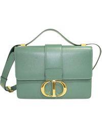 Dior Green Leather 30 Montaigne Flap Shoulder Bag