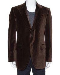 Dolce & Gabbana Brown Velvet Blazer
