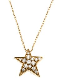 Chanel - Comete Star Diamond And Yellow Gold Pendant Necklace - Lyst