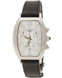 Balmain White Mother Of Pearl Stainless Steel Arcade Chronograph Women's Wristwatch 30 Mm - Black