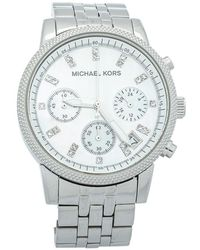 Michael Kors Mother Of Pearl Stainless Steel Chronograph Mk5020 Wristwatch - White