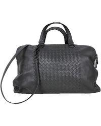 Bottega Veneta - Grey Intrecciato Nappa Leather Large Tote Bag - Lyst