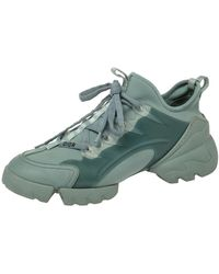 Dior Pale Green Neoprene And Pvc D Connect Trainers