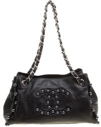 Chanel - Leather Pearl Obsession Tote - Lyst