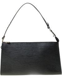 Louis Vuitton - Black Epi Leather Pochette Accessories - Lyst