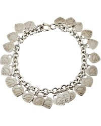 Tiffany & Co. Sterling Silver Multi Mini Heart Tags Bracelet - Metallic
