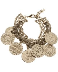 Chanel - Cc Coin Charm Multi Chain Bracelet - Lyst