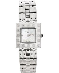 Givenchy Mother Of Pearl Stainless Steel Apsaras 1558962 Square Women's Wristwatch 25 Mm - Metallic