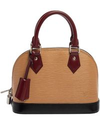 Louis Vuitton Tri-color Epi Leather Alma Bb Bag - Brown