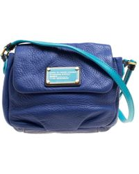 Marc By Marc Jacobs - /turquoise Leather Crossbody Bag - Lyst