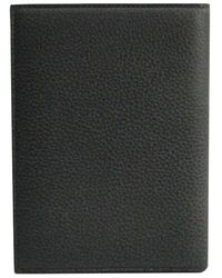 Dior Homme Dior Homme Black Pebbled Leather Passport Cover