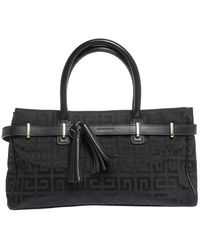 Givenchy Black Monogram Canvas And Leather Tassel Tote