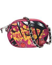Moschino Pink Coated Canvas Fruitblast Oval Crossbody Bag