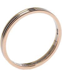 Cartier Trinity 18k Three Tone Gold Wedding Band Ring Size 63 - Metallic