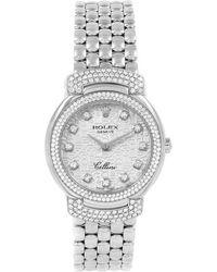 Rolex - 18k White Gold Diamond Cellini Cellissima Women's Wristwatch 26mm - Lyst