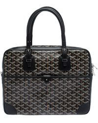 Goyard Black Ine Canvas And Leather Ambassade Pm Briefcase