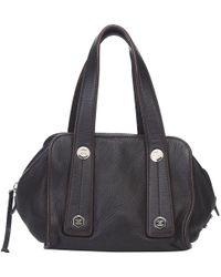 Chanel - Dark Pebbled Leather Satchel Bag - Lyst