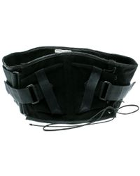 Bottega Veneta Black Velcro Strap Tie Detail Corset Belt S