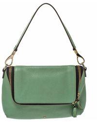 Anya Hindmarch Green Leather Zip Crossbody Bag