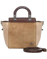 Givenchy Brown Leather And Suede Hdg Satchel