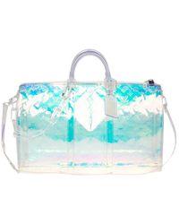 Louis Vuitton Keepall Prism Silver Plastic Bag - Metallic