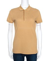 Ralph Lauren Brown Cotton Pique Skinny Polo T-shirt