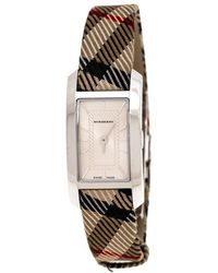 Burberry Silver Stainless Steel Classic Bu1051 Women's Wristwatch 20 Mm - Natural