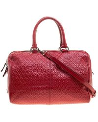 Tod's Red Signature Patent Leather Bauletto Satchel