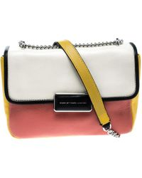 5a8f52f77c3f Marc By Marc Jacobs - Colorblock Leather Rebel 24 Shoulder Bag - Lyst