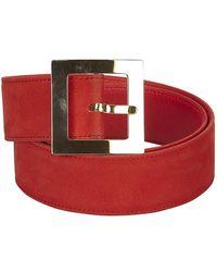 Dior Nubuck Leather Belt - Red