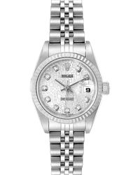 Rolex Silver Diamonds 18k White Gold And Stainless Steel Datejust 79174 Wristwatch 26 Mm - Metallic