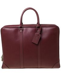 Louis Vuitton Bordeaux Epi Leather Porte-documents Voyage Bag - Multicolour