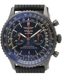 Breitling Black Blacksteel Navitimer Automatic Mb0128 Wristwatch 46 Mm