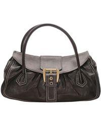Céline Brown Leather Satchel