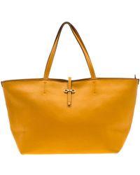 Ferragamo \n Yellow Leather Handbag
