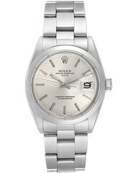 Rolex Silver Stainless Steel Oyster Perpetual 1500 Men's Wristwatch 35 Mm - Metallic