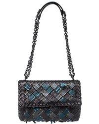 Bottega Veneta Metallic Leather Small Olimpia Plume Shoulder Bag