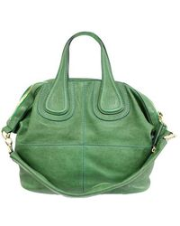Givenchy Green Leather Nightangale Satchel