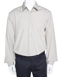 Burberry Brit Light Beige Cotton Nova Check Detail Shirt - Natural
