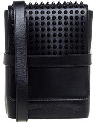 Christian Louboutin Benech Reporter Calf Leather Messenger Bag - Black
