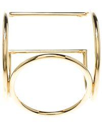 Céline - Tone Cuff Bracelet - Lyst