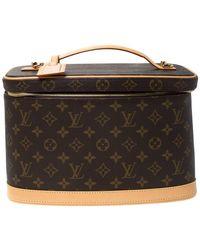 Louis Vuitton Monogram Canvas Nice Beauty Case - Brown