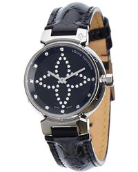 Louis Vuitton - Stainless Steel Tambour Forever Women's Wristwatch 34mm - Lyst